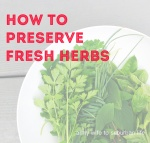 freezing and saving fresh herbs