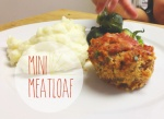 mini meatloaf, kid friendly, dinner, meat,