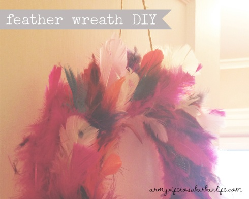 pink feather wreath DIY