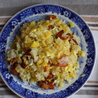 How to Make Bacon Fried Rice with Egg