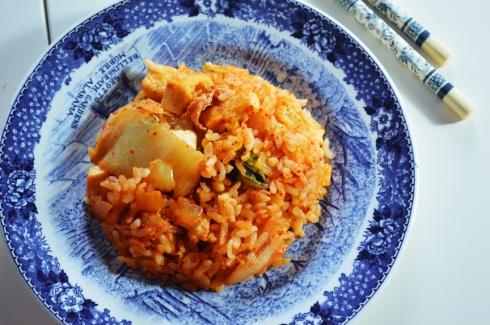 how to make kimchi fried rice